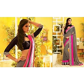 RnLush3153 Bollywood Designer Collection By Chiffon Saree With Silk Blouse.
