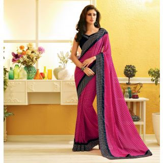RnLush3155 Bollywood Designer Collection By Chiffon Saree With Silk Blouse.