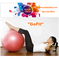 GoFit Anti Burst Gym Ball With Foot Pump 65Cm