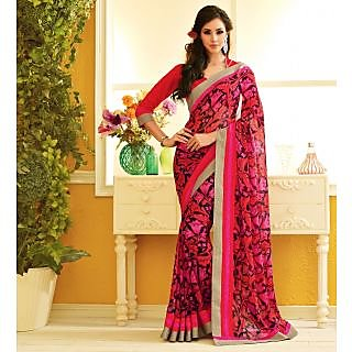 RnLush3158 Bollywood Designer Collection By Chiffon Saree With Silk Blouse.
