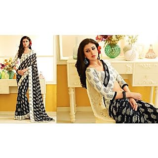 RnLush3160 Bollywood Designer Collection By Chiffon Saree With Silk Blouse.