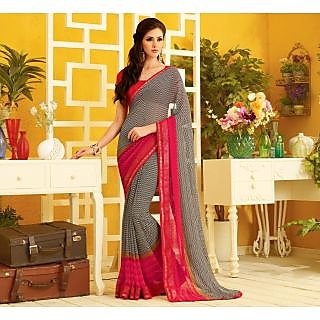 RnLush3161 Bollywood Designer Collection By Chiffon Saree With Silk Blouse.