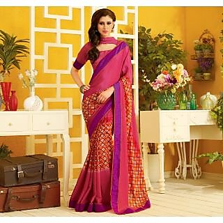 RnLush3164 Bollywood Designer Collection By Chiffon Saree With Silk Blouse.