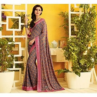 RnLush3165 Bollywood Designer Collection By Chiffon Saree With Silk Blouse.