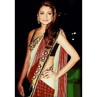 Anushka Beautiful White & Red Saree