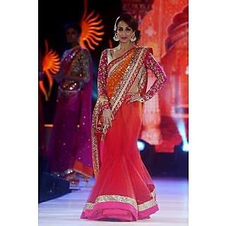 Malaika Arora Khan Orange And Pink Saree