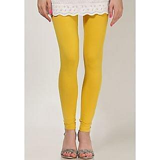 New Trend Cotton Lycra Yellow Legging