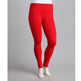 New Trend Cotton Lycra Red Leggings