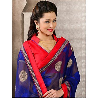 Shop Avenue Blue Bhagalpuri Silk Zari Saree (WGS05042)