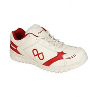 Pure Play Stylish White Sport Shoes For Men PPGSS011-White-Red