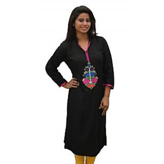 Sharleez Embroidered Linen Kurta
