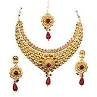 Kavyanjali Jewels Multi-Colour Classic Earring & Necklace Set