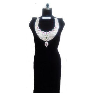 Women's Grace Black Georgette Dress Material