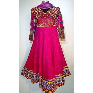 Pink Designer Anarkali Suit With Embroidery- KF 5045