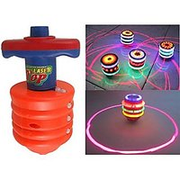 Laser Top Spinning Top With LED Light And Laser Toy (Color/Design May Vary)