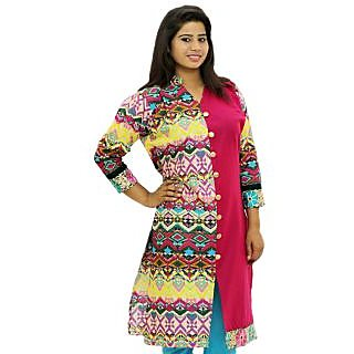 Sharleez Printed Cotton Kurta - 75092272