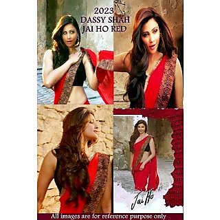 Daisy Shah Red Saree In Jai Ho