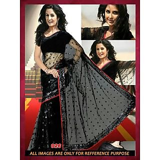 Katrina Kaif Singh Is King Black Bollywood Replica Saree