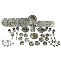 51 Pcs Steel Dinner Set