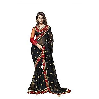 Bollywood Designer Party Were Georgette Black Saree