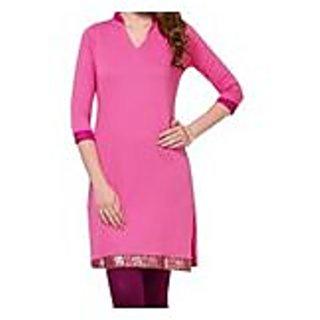 Bewiching Pink Knitted Cotton Kurti