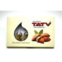 TATV 100% Pure Oil : Almond (10 Ml Single Use Pack X 6 = 60 Ml); A BABA Product