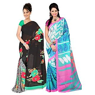 Carah Exclusive Pack Of 2 Georgette Saree CRH-N269