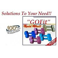 GOFIT PVC COLORED DUMBELLS SETS 2 KG X 1 PAIR