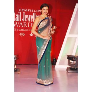Deepika Padukone Jhalak Beauty Bollywood Replica Saree