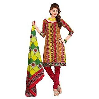 Lichi Cotton Printed Unstiched Dress Materials - 75112666