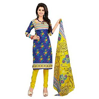 Lichi Cotton Printed Unstiched Dress Materials