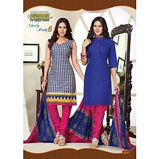 Buy 1 Get 1 Free Top With Pink Salwar Cotton Kurti