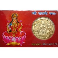 Goddess Laxmi Dhan Laxmi Vaibhav Laxmi Pocket Card Yantra Keep In Purse Temple H