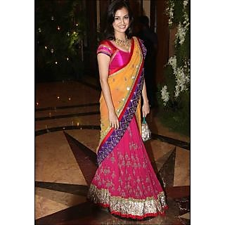 Diya Mirza Lifestyle Bollywood Replica Lehenga Saree