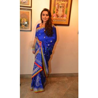 Rani Mukherjee Blue Designer Bollywood Style Saree