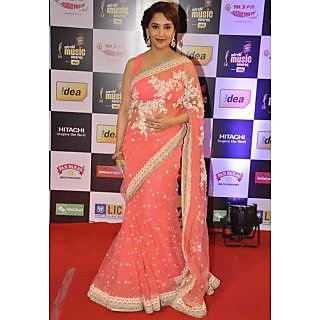 Madhuri Dixit Light Pink Saree