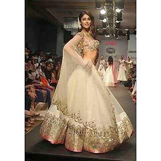 Ileana D'Cruz Off White Net Lehenga