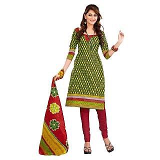 Lichi Cotton Printed Unstiched Dress Material - 75125828