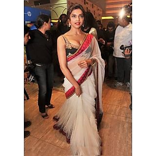 Deepika Padukone Dazzling Bollywood Replica Saree