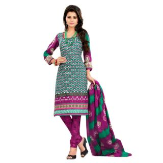 Lichi Cotton Printed Unstiched Dress Material