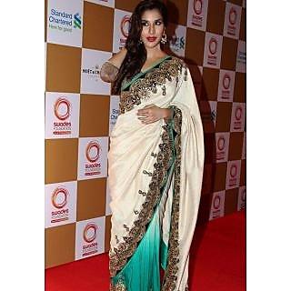 Sophie Chaudhary Off White Designer Saree