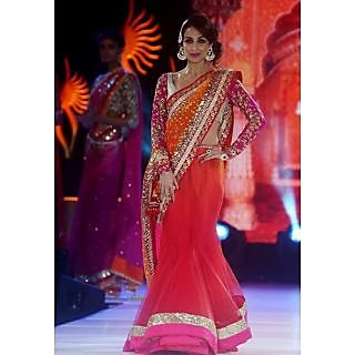 Malaika Arora Khan Red Saree