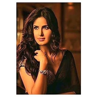 Katrina Kaif Black Bollywood Replica Saree