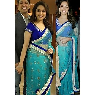 Madhuri Dixit In Awesome Sea Green Saree