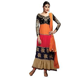 Orange Most Attractive Designer Anarkali Suit