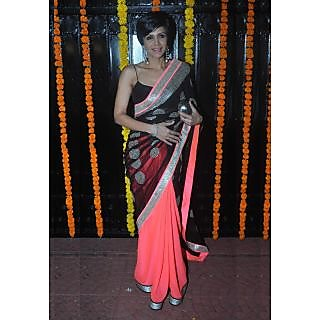 Mandira Bedi Black Beauty Bollywood Replica Saree