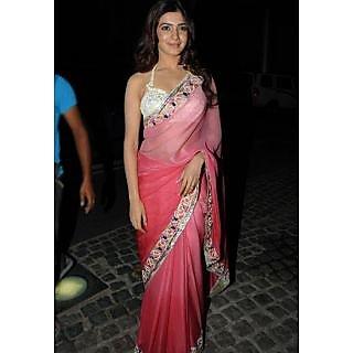 Samantha Pink Designer Saree