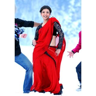 Kajal Agarwal Red Bollywood Replica Saree