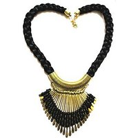 Rajat Fashion Black Metal Thread Necklace