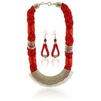 Rajat Fashion Party Purpose Stylish Metal Necklace